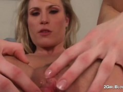 Harmony Rose in breezy cuckold vignettes of creampie munching molten wifey mistress while spouse witnesses and is locked in innocence