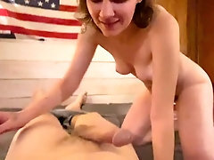 Cheating step sister gets creampie