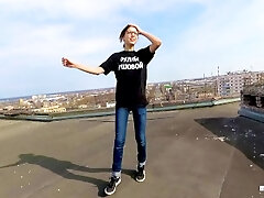 Outdoor Public hook-up on the roof of a high-rise house - POV by MihaNika69