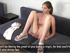 Ash-blonde cherry Victoria very first time audition