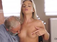 OLD4K. Cutie needs nothing more but old dick of her mature teacher