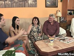 Old parents nail her as he leaves